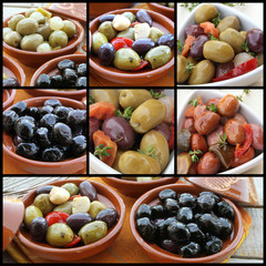 collage olives