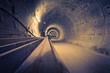 Leinwanddruck Bild - Hamburg U4 Ubahntunnel