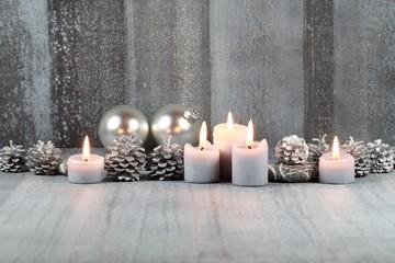 Weihnachtliches Kerzenmotiv