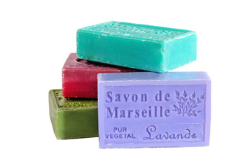 MARSEILLE, FRANCE - CIRCA JULY 2014: Herbs soap from the Provenc