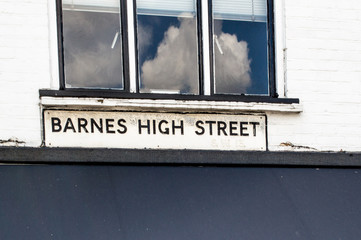 Barnes High Street Road Sign