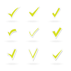 a variety of tick sticker set