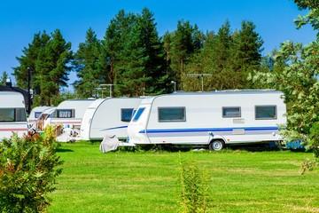 Modern caravan park.