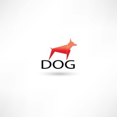 Dog red symbol