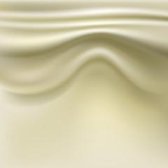 Silk fabric with pleats.