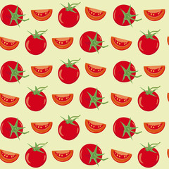 Tomatoes seamless vector background