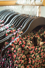 Dresses in the store