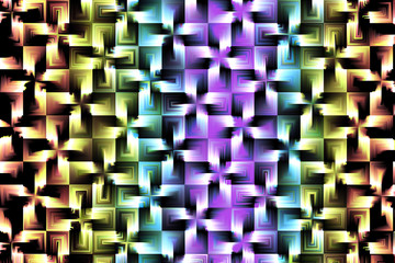 Multicolor & 3D cool background in cross shapes