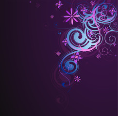 Decorative abstraction with floral elements