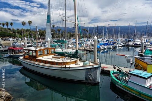 Fotobehang Poort Santa Barbara Marina