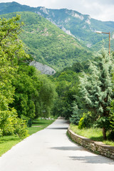 Pilgrim trail to the holy sites of the monastery Bachkovski