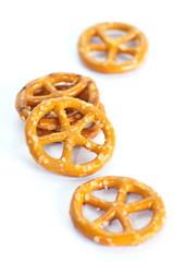 Close - up Baked bread pretzel snack