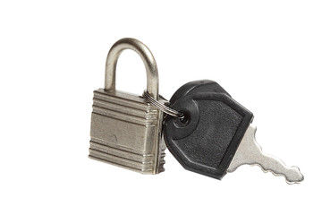 lock with two keys