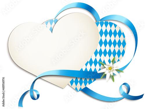 Herzkarten mit Schleife u. Edelweiss - 68956976
