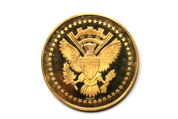 Gold coin of John Fitzgerald Kennedy