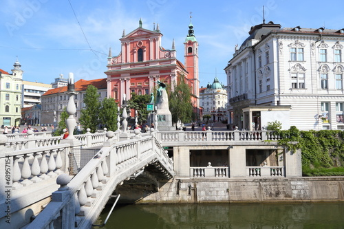 canvas print picture Ljubljana (Sommer 2014)