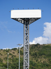 Iron tower for advertising