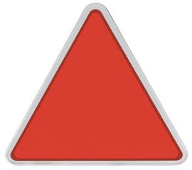 triangle de signalisation rouge