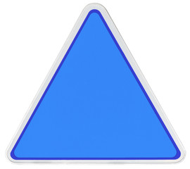triangle de signalisation bleu