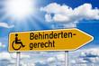 Wegweiser mit Behindertengerecht