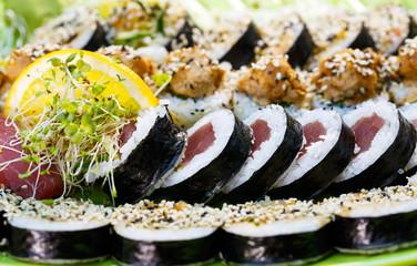 Fresh sushi close up