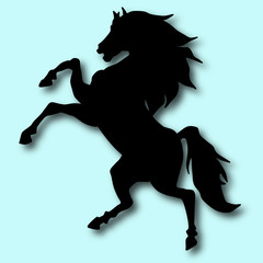 black horse silhouette 12