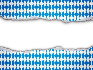 Gerissene Papierkanten mit Rautenmuster