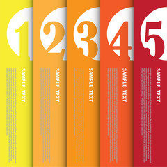 Infographic banner for creative work