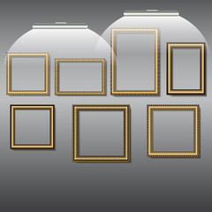 frames for photos and pictures of golden color
