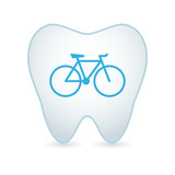 Tooth with a bicycle icon