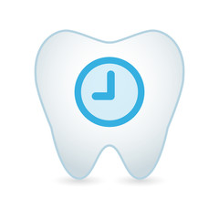 Tooth with a clock