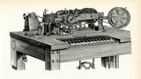 Hughes printing telegraph, 1885 poster