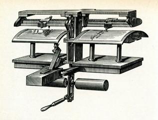 Pantelegraph (fax) of G. Caselli ca. 1860