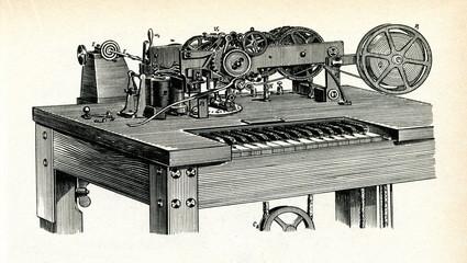 Hughes printing telegraph, 1885