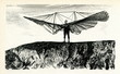 Leinwanddruck Bild - Lilienthal preparing for a Small Ornithopter flight,