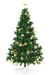 Geschmückter Weihnachtsbaum mit Stern zu Weihnachten
