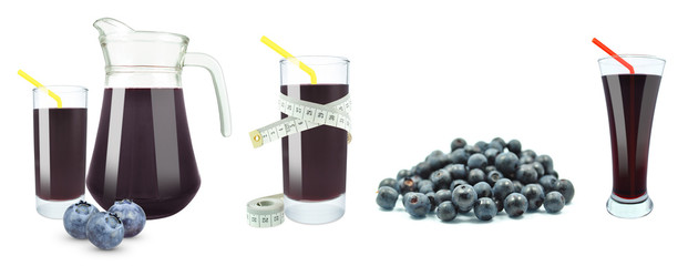 juice of blueberries, meter and fruit