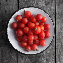 cherry tomatoes on the table
