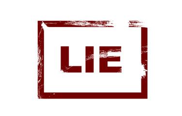 Lie grunge stamp