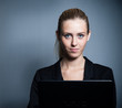 canvas print picture - young attractive business woman