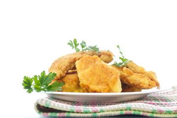 chicken fried in batter