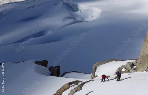 Papiers peints Alpes Alpinisme dans le massif du mont Blanc