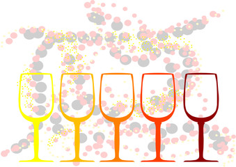 abstract background with a glasses of wine