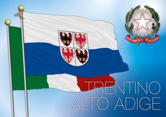 trentino alto adige südtirol regional flag, italy