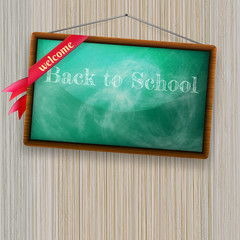Back to school, written with chalk. EPS10