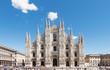 Duomo of Milan,Italy.Cathedral.Travel landmark.Piazza del Duomo.
