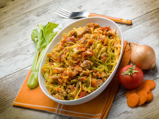 tagliatelle with rabbit ragout
