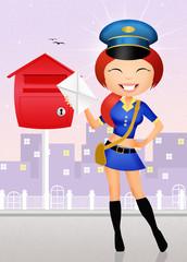girl postman