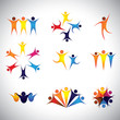 people, friends, children vector icons and design elements