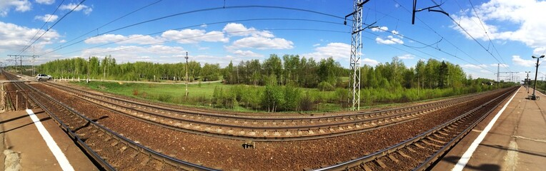 Railroad wide panorama